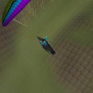 Segelfliegen über dem Berg