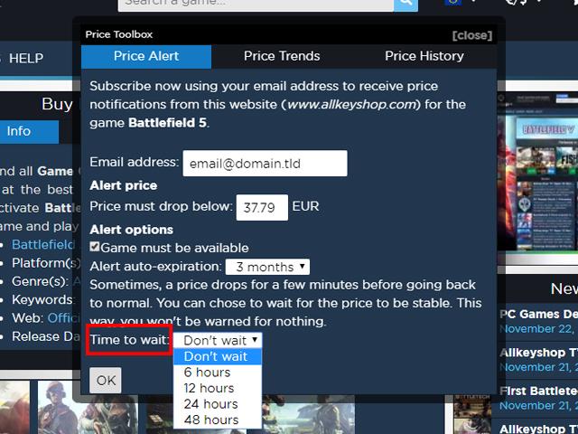 Keyforsteam Preisalarm Feature Update