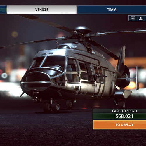 Battlefield Hardline Fahrzeug Helicopter