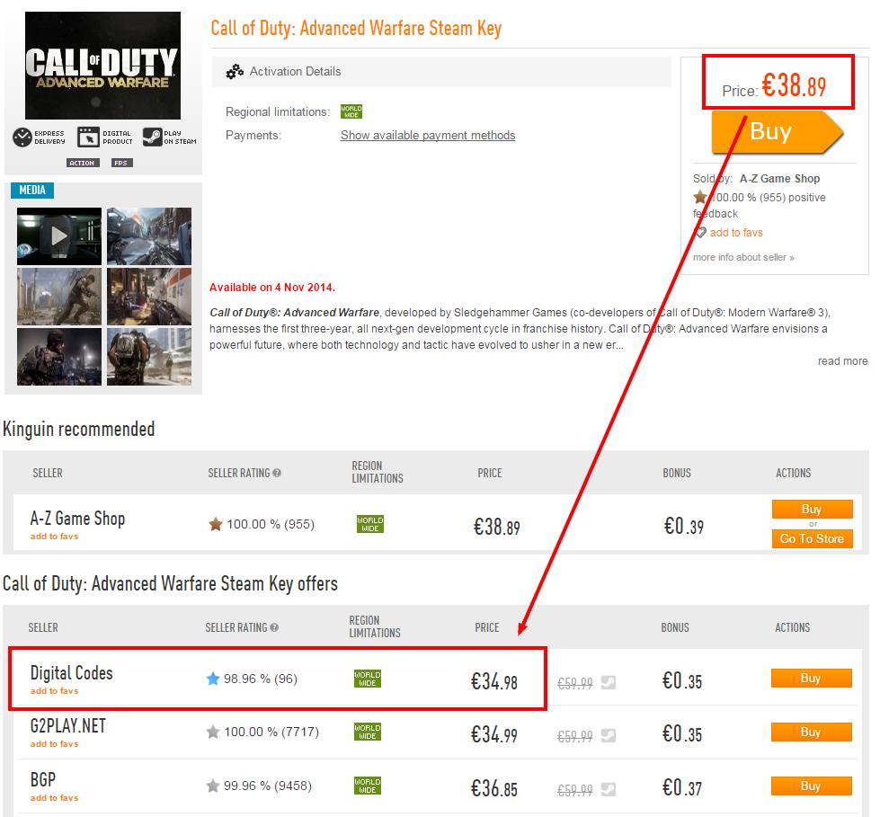 Call of Duty  Advanced Warfare Steam Key   Call of Duty