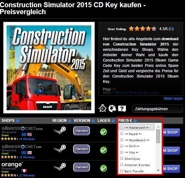 Construction Simulator 2015 CD Key kaufen   Preisvergleich