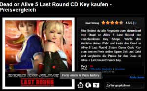 Dead or Alive 5 Last Round CD Key kaufen   Preisvergleich