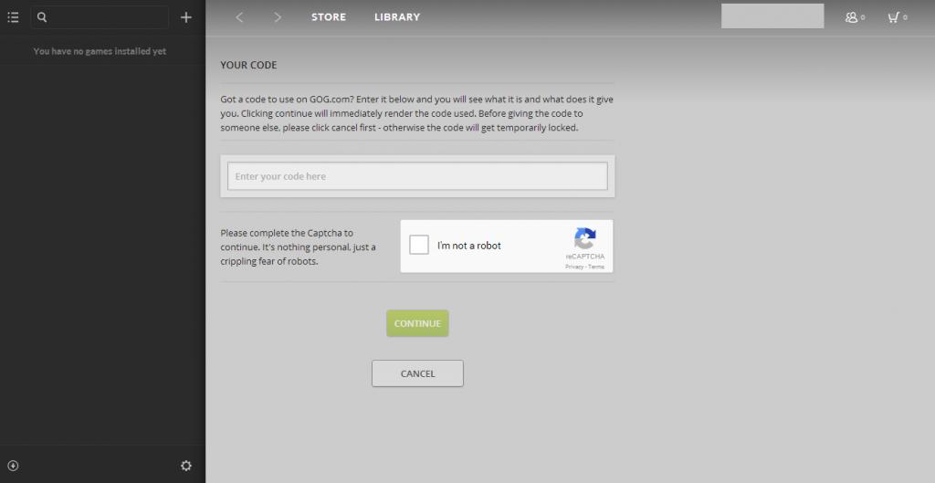 So aktivierst Du einen CD-Key auf GOG.com