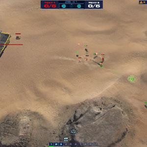 Homeworld Deserts Positionierung der Flotte