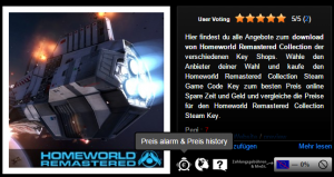 Homeworld Remastered Collection CD Key kaufen   Preisvergleich