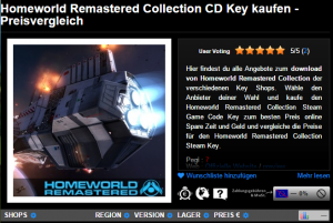 Homeworld Remastered Collection CD Key kaufen   Preisvergleich4