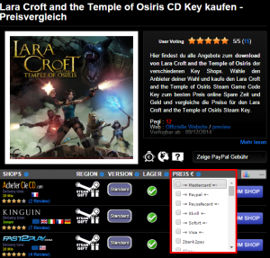 Lara Croft and the Temple of Osiris CD Key kaufen   Preisvergleich