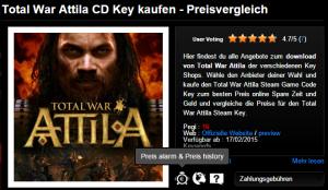 Total War Attila CD Key kaufen   Preisvergleich
