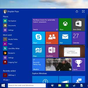 Neues Start-Menü von Windows 10