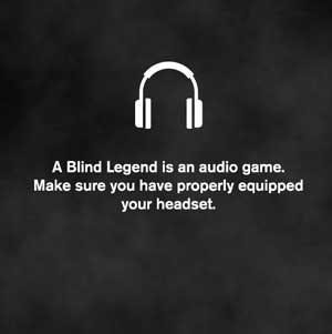 A Blind Legend Ausgerüstet Kopfhörer