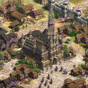Age of Empires 2 Definitive Edition Lords of the West Stadtzentrum