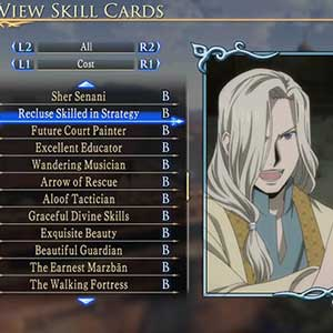 Arslan The Warriors of Legend PS4 Charakter -Status