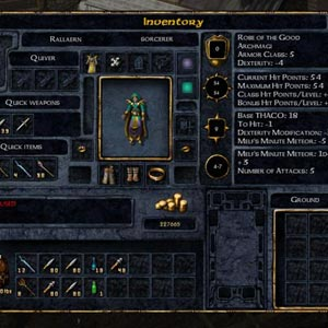 Baldur's Gate Enhanced Edition Spielerinventar