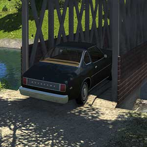 Vorbeigehen an der Brücke im BeamNG drive