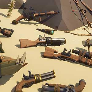 Schaftpille aus Gewehren und Amo