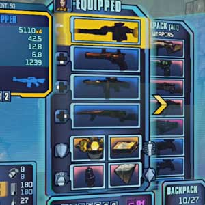 Borderlands 2 Sir Hammerlock's Big Game Hunt - Ausrüstung Inventar