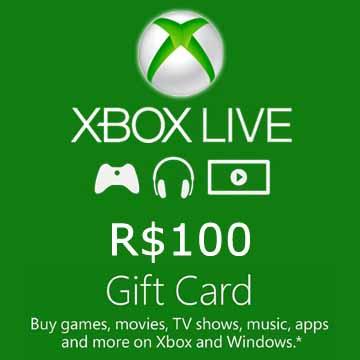 100 BRL Gift Card Xbox Live Code Kaufen Preisvergleich