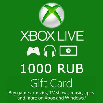 1000 RUB Gift Card Xbox Live Code Kaufen Preisvergleich