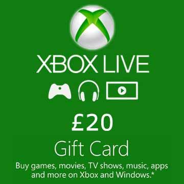20 GPB Gift Card Xbox Live Code Kaufen Preisvergleich