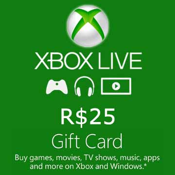25 BRL Gift Card Xbox Live Code Kaufen Preisvergleich