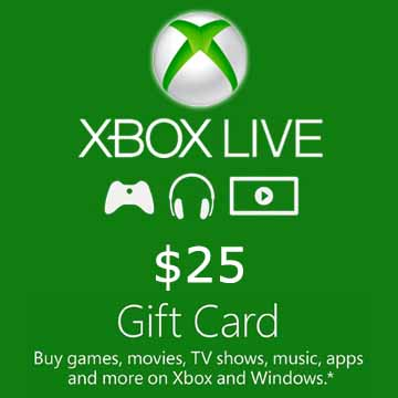 25 USD Gift Card