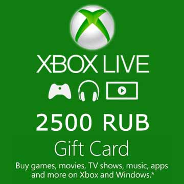 2500 RUB Gift Card Xbox Live Code Kaufen Preisvergleich