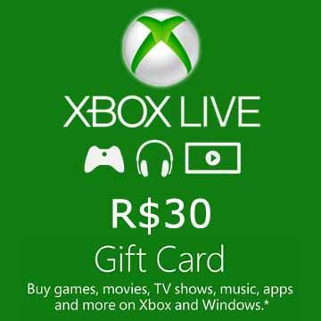 30 BRL Gift Card Xbox Live Code Kaufen Preisvergleich