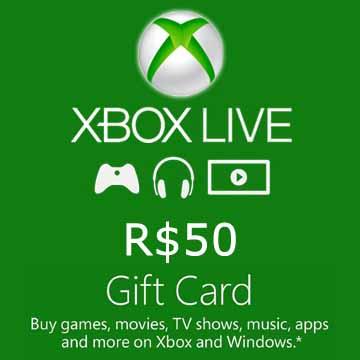 50 BRL Gift Card Xbox Live Code Kaufen Preisvergleich