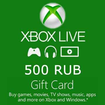 500 RUB Gift Card Xbox Live Code Kaufen Preisvergleich
