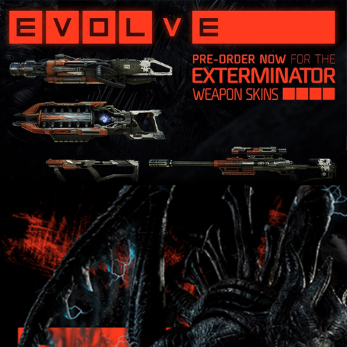 Evolve Exterminator Weapon Skins Pack Xbox one Code Kaufen Preisvergleich