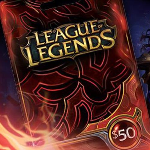 League Of Legends 50 USD Prepaid RP Cards US
