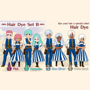 WorldNeverland Elnea Kingdom Hair Dye Set B