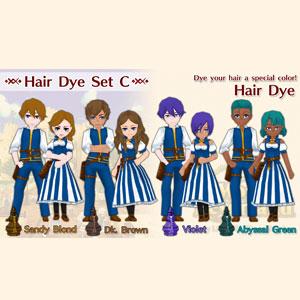 WorldNeverland Elnea Kingdom Hair Dye Set C