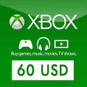US 60 USD Gift Card Xbox Live Code Kaufen Preisvergleich