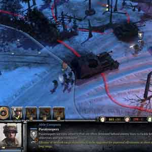 Company of Heroes 2 Ardennes Assault Screenshot: Deploy Paratroopers