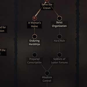 Crusader Kings 3 Schnittstelle für Fertigkeiten