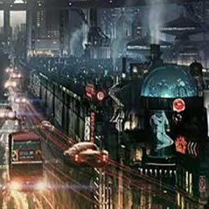 Cyberpunk Nacht Stadt