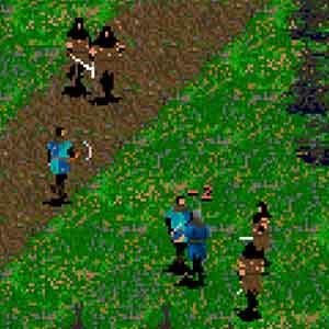 Darklands Screenshot: Zeichen auf dem Bildschirm