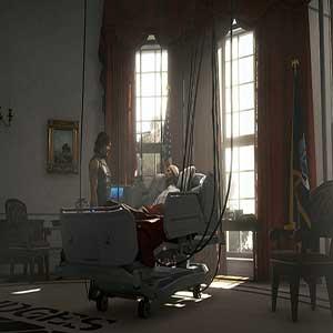 Death Stranding Sam Bridges und Präsidentin Bridget Strand