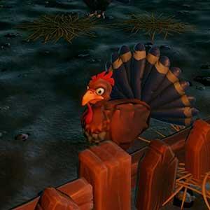 Dorfbewohner Hühnerfarm