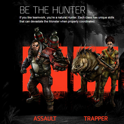 Evolve Xbox one Hunter Team