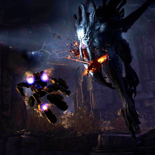 Evolve GameplayXbox one kämpft gegen Kraken