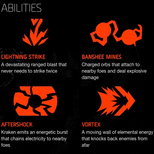 Kraken Fähigkeiten