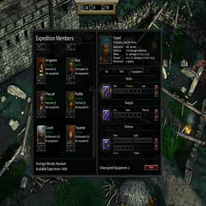 Expeditions Conquistador Ausrüstung Bildschirm