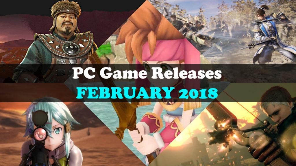 Februar 2018 PC Spiele Release