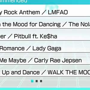 Full song list