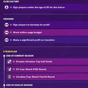 Football Manager 2021 Vorstand