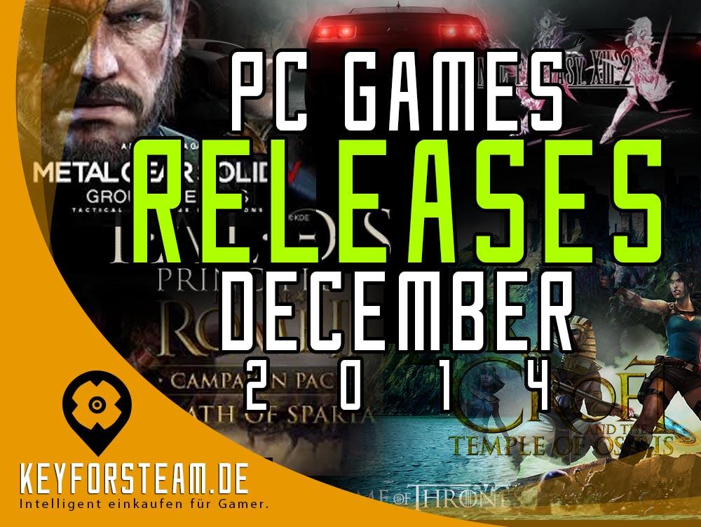 PC Spiele Releases im Dezember 2014