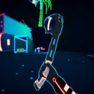 Neon-Synthwave-Virtuallandschaft