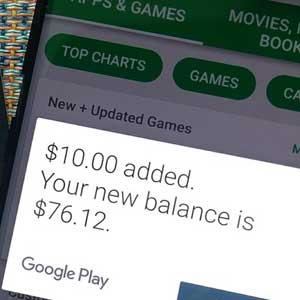 Google Play Gift Card einlösen